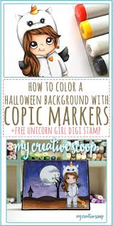 download halloween background music how to create a halloween background using copic markers free digi