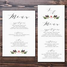 wedding menu cards template menu card templates 50 free word psd pdf eps indesign