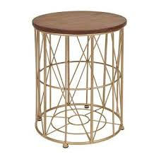 Gold Side Table Wooden Gold Side Table