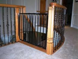 Baby Gates For Stairs No Drilling Inspiring Stair Banister For Perfect Interior Look House