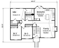 split level floor plan open 4 bdrm floor plans plan w59510nd sloping lot narrow lot