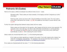 palfinger error codes documents
