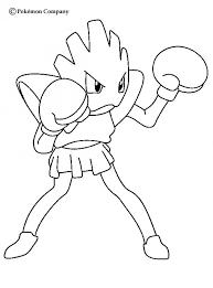 strong hitmonchan pokemon coloring fightimg pokemon