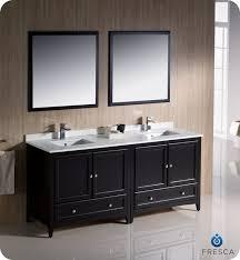 72 Inch Double Sink Bathroom Vanity by Fresca Fvn20 3636es Oxford 72 Inch Espresso Traditional Double