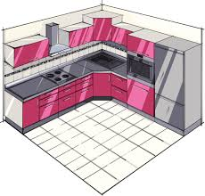 modern pink kitchen l shaped kitchen plans