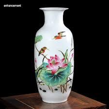 vase home decor lotus pond ceramic white floor vases home decoration ancient