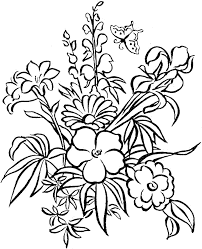 coloring page of flowers glum me