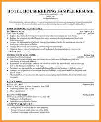 Resume Templates For Housekeeping 100 Sle Resume Housekeeping Housekeeper Resume 5