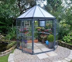 Palram Gazebo Palram Oasis Hexagonal 8x7 Greenhouse Gardensite Co Uk