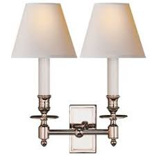 Visual Comfort Lights Visual Comfort Studio Sandy Chapman Classic Two Light Sconce In