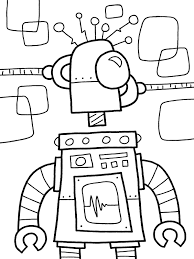 free robot coloring pages to print coloringstar