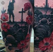 ww2 memorial tattoos designs poppy canadian flag google search