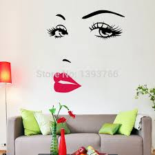 diy beautiful face eyes and lips wall art sticker 8469 painting