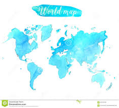 Vector World Map Vector World Map Watercolor Royalty Free Stock Images Image