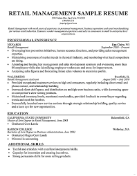 retail manager resume retail manager resume sle resume for study