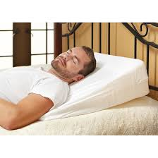 wedge bed pillows home comforts memory foam wedge pillow 233129 pillows at