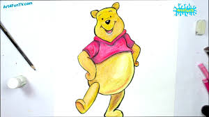 draw winne pooh cartoon step step walt disney