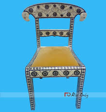 Bone Inlay Chair Bone Inlay Furniture Mother Of Pearl Inlay Furnitures India