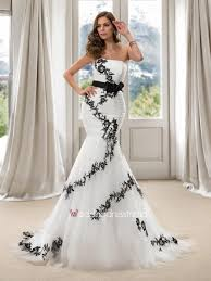 cheap trendy strapless long sash black mermaid wedding dress buy