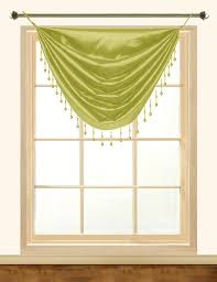 elaine faux silk grommeted waterfall valance with fringes u2013 editex