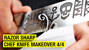 Razor Sharp Kitchen Knives How To Sharpen A Chef Knife Chef Knife Makeover 4 4 Youtube