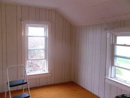Wooden Paneling by Whitewash Wood Paneling Makeover Before And After Best House Design
