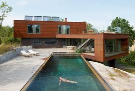 modern villa midgard with infinity pool backyard view furniture