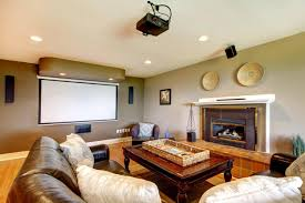 at home movie theater nice brown nuance of the home movie projector can be applied on