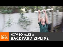 Zip Line For Backyard by Backyard Zipline How To Youtube