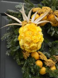 up of the strawflower pineapple wreaths of