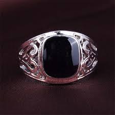 aliexpress buy mens rings black precious stones real fashion brand design men rings big black precious stones antique