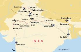 Agra India Map by Grand Tour Of Northern India India Jules Verne