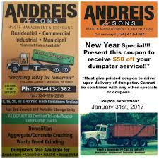 andreis u0026 sons waste management home facebook
