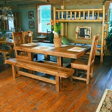 buckboard rough cut table chair and bench set niangua furniture