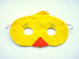 duck halloween mask pdf pattern duck mask sewing tutorial yellow easter felt