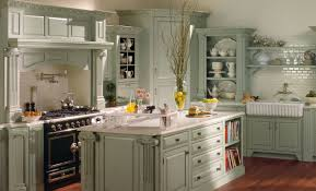 Kitchen With Island Design Kitchen Britsih Country Kitchen Design With Walnut Cabinets Also