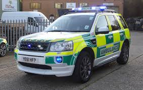 light blue land rover uk specialist ambulance service land rover freelander 2 team