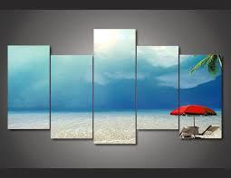 chambre de d馗ompression encadrée imprimé paradis tropical palms peinture sur toile