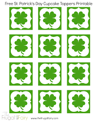 printable st patrick u0027s day cupcake toppers the frugal fairy