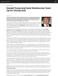 donald trump and hank steinbrenner team up for charity golf the