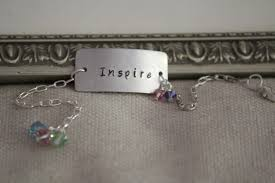 Custom Stamped Jewelry Personalized Hand Stamped Bracelet Silver Hand Stamped Jewelry