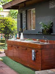Outside Kitchen Cabinets Outdoor Kitchen On A Budget