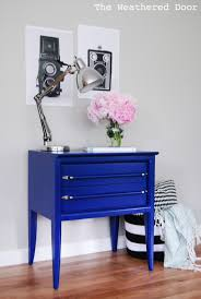 Mid Century Nightstands Klein Blue Mid Century Nightstands The Weathered Door