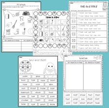 oo vowel digraph worksheets and posters by teaching trove tpt
