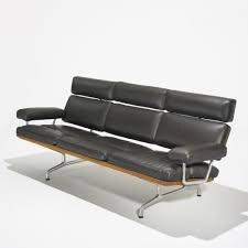 Eames Leather Chair Charles And Ray Eames Teak And Leather Sofa