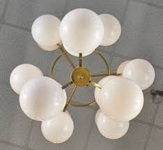 Globes For Chandelier Mid Century Style Murano Glass Globe Chandelier Jean Marc Fray