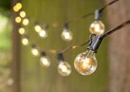 g40 string lights led globe string lights g40 bulb 50 ft black c7 strand warm white
