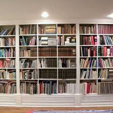 bookcase wall gorgeous white wooden built in large bookshelf