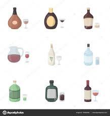 alcohol vector alcohol establezca los iconos de estilo de dibujos animados gran