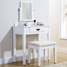 white contemporary dressing table contemporary modern dressing table with stool mirror in various
